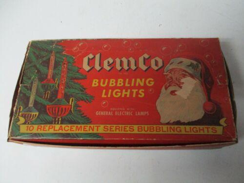 Old 10 Light C-6 CLEMCO BUBBLE LIGHT ORIGINAL BOX