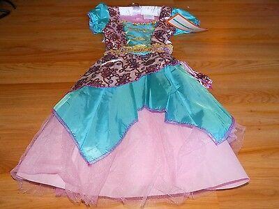 Gypsy Girl Halloween Costume (Girl's Size Medium 7-8 Fortune Teller Gypsy Halloween Costume Dress Headpiece)