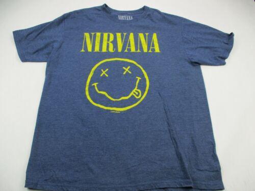 Nirvana Blue Face Concert T-Shirt Adult Extra Large Short Sleeve