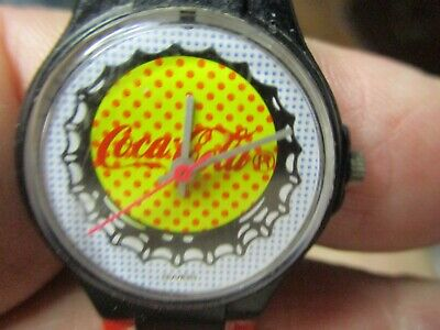 Ladies~Young adult Coca Cola adv. watch Swiss Made Watch in Swatch style