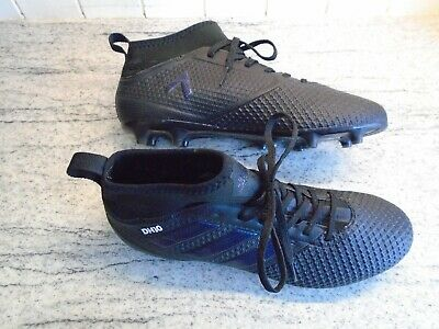 Mens Boys Adidas Ace 17.3 Firm Ground Football Boots In Black Size UK8/EU42 Used