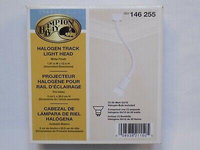 Hampton Bay Halogen Track Light Head 146 255 White Finish Gooseneck BOX -