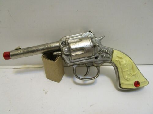 STEVENS BUFFALO BILL NICKEL PLATED CAST IRON CAP GUN