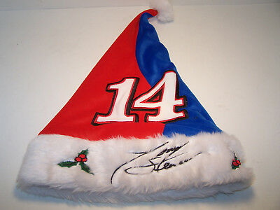 Mistle Toe Hat (TONY STEWART SANTA HAT #14 NASCAR Mistletoe Christmas Party Collectible  NEW)