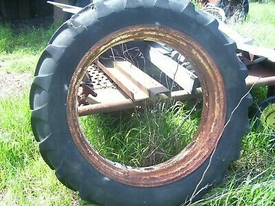 Vintage Oliver Super 77 - 88 Tractor - Rear Wheel Tire -15.5 X 38