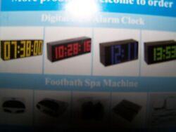 Chihai Kosda 9.6 LED Alarm Clock 9 1/4 BRIGHT Red Functions NEW NIB