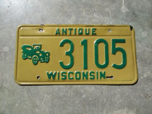 Wisconsin Antique license plate  #  3105