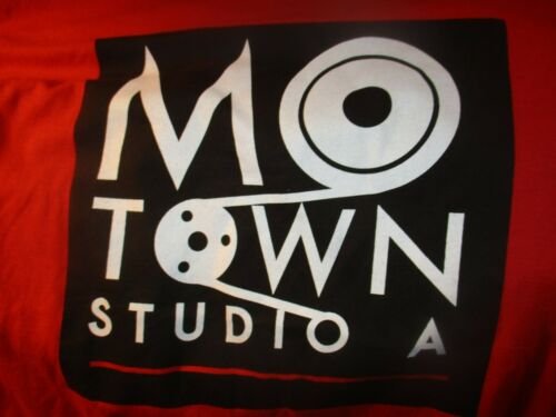 Red MOTOWN MUSEUM STUDIO A Logo T Shirt Large Detroit Soul R&B