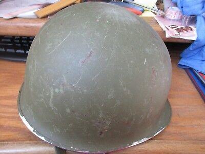 VINTAGE MILITARY M1 Steel METAL Helmet BACK Seam LS-82 GUC