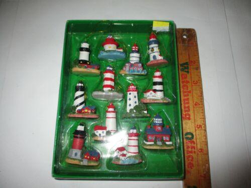 Kurt Adler Mini Lighthouse Ornaments