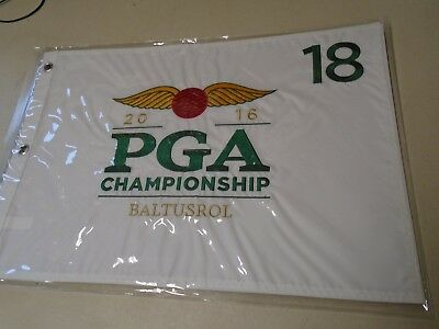 2016 Pga Championship Baltusrol Golf Pin Fahne Bestickt Neu Loch 18