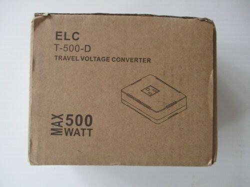 ELC 500 Watt Voltage Converter Transformer Heavy Duty Compact - Step Down - 220/