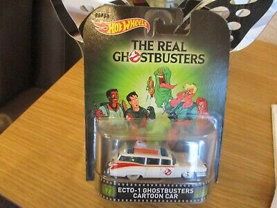 HOTWHEELS 2015 ECTO 1 GHOSTBUSTERS CARTOON CAR ALLOYS REAL RIDER RUBBER TYRES¬