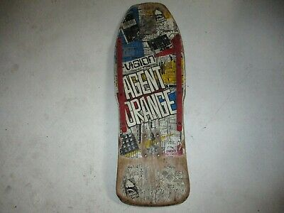 Vintage Vision Agent Orange Skateboard Deck Original 1980's old school