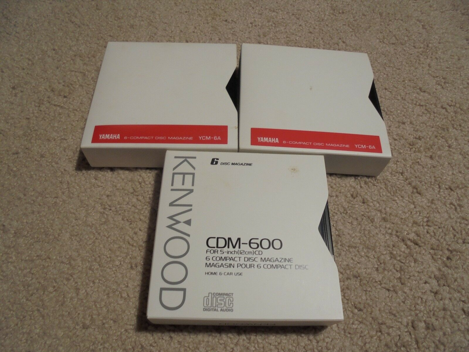 LOT OF 3 (6-Compact Disc Magazine): 1 Kenwood CDM-600 , 2 YAMAHA YCM-6A