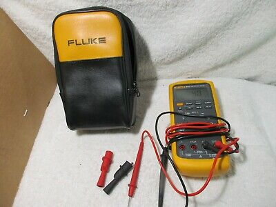 Super Clean Used Fluke 87v True Rms Digital Multimeter W Leads Works 87-5 87 V
