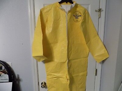 Dupont Tychem Qc Protection Coverall New Yellow Safety Suit Chemical Med 1 Suite