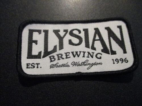 ELYSIAN BREWING COMPANY White Black LOGO PATCH iron on craft beer brewery