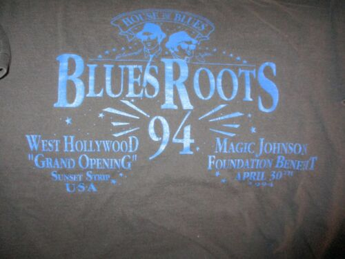 1994 BLUES ROOTS West Hollywood Grand Opening Black T Shirt XL ROOTS