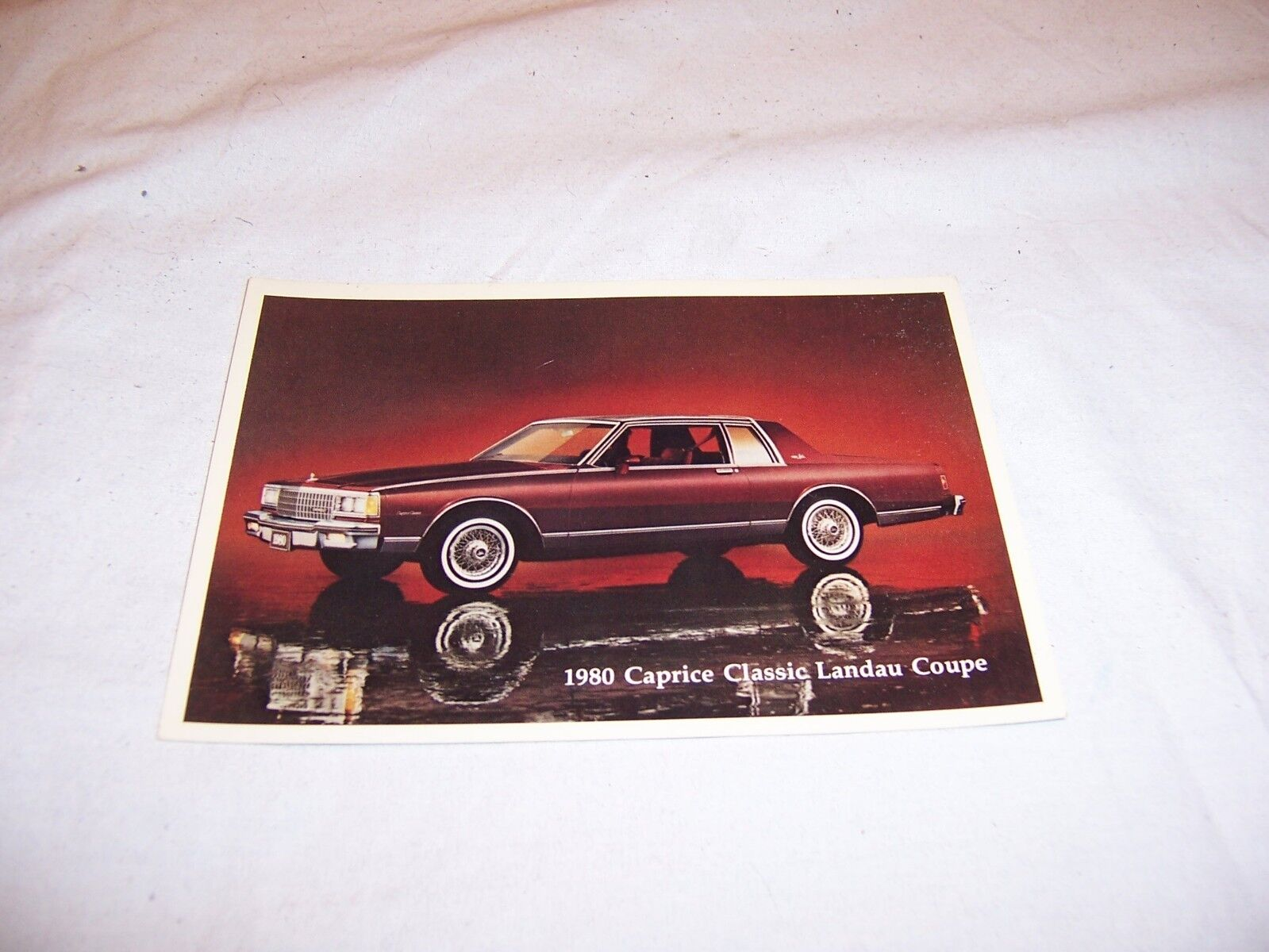 1980 Chevy Caprice Dealer Promo Post Cards NOS