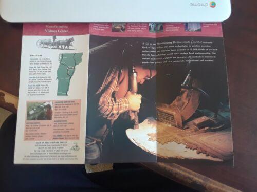 Rock of Ages Barre Vermont Tour Brochure Advertisement ..Quarry, Mining