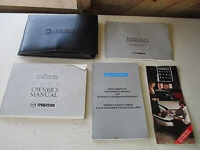 MAZDA MILLENIA Owners Manual W/Case & 2 Warranty Information Books 2000