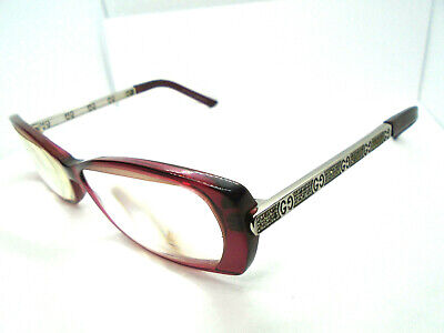 Gucci Vintage Eyeglasses GG 3002 HIA Burgundy 54-12-135 Rx Frames Italy