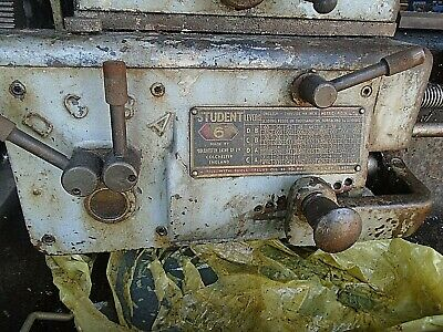 Clausing Colchester Student Lathe 6 Inch 12 Inch Quick Change Gearbox
