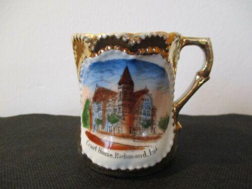 Circa 1915 Souvenir Porcelain Cup Mug Court House Richmond Indiana