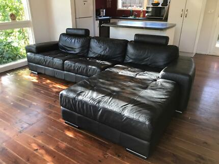 100% genuine leather couches great condition