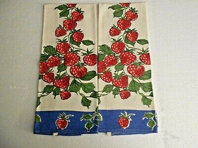 Vintage pair of 1940's cotton kitchen towels - Excellent condition! Unused.