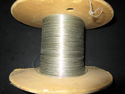 Qqw343 Mil Bus Bar Wire 20awg Partial Spool Solid Single Tin Plating 12lbs.