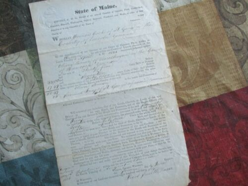 1836 Jonathan Cilley (Killed in a Duel Maine House of Reps) signed document!