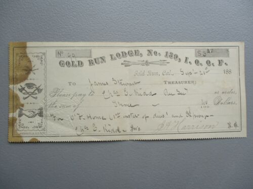 1880 Gold Run California GRAPHIC PICTURES signed Harrison,Kidd (SEAL) Document!