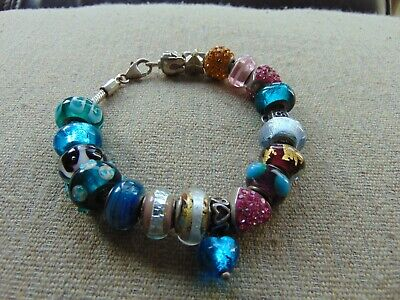 """Used, SILVER CHARM BRACELET - Pretty with 19 Charms - 7"""" for sale  Shipping to South Africa"""