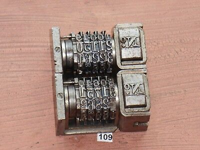 Letterpress Numbering Machine Lot Of 2- Model 30