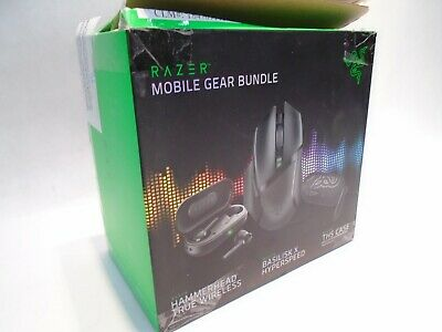 NEW RAZER MOBILE GEAR BUNDLE BLUETOOTH EARBUDS HEADPHONES GAMING MOUSE CASE