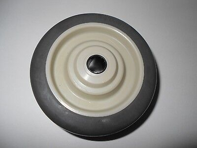 Jarvis Gray Vulcan Series Soft Rubber Wheel 4 X 1-14 For Scrubber Machines