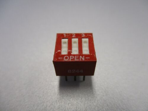 DIP Switch, 3 Position PC Mount DIP Switch (NOS, New Old Stock)(QTY 5 ea)D24
