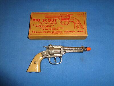J.&E. Stevens Big Scout Cap Gun with Original Box. Working.