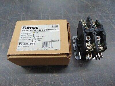 Furnas Definite Purpose Contactor 2 Pole #45EG20AJX591 24VAC Coil