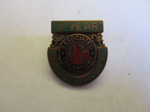 Association Transport 1yr Trucking Truck Driver Employee Safety Award Pin