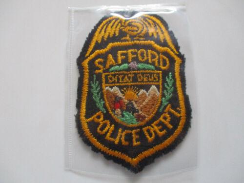 vintage Safford Arizona Az Felt Type 1 Early RARE Police Patch