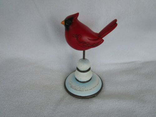 LOVELY RED CARDINAL BIRD [ SPECIAL GRANDMOTHER ] FIGURINE