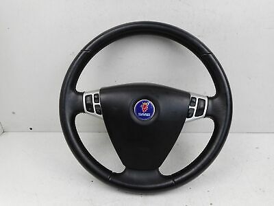 2005 SAAB 93 9-3 LEATHER STEERING WHEEL WITH AIR B A G