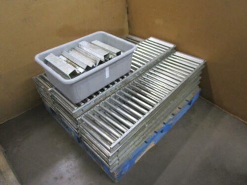 "UNEX SPAN-TRACK 47.5""X12"" ALUMINUM CARTON BOX GRAVITY FLOW CONVEYOR ""LOT OF 16"""