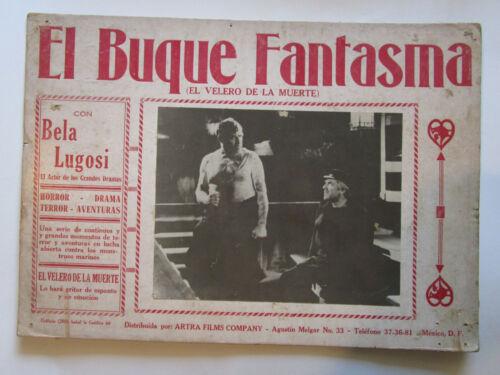 BELA LUGOSI - PHANTOM SHIP- Buque Fantasma Mexican Lobby Card 1935 film