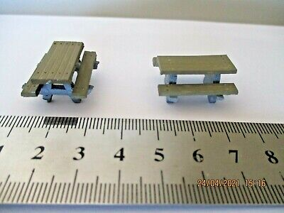 Model Railway Scenery Picnic Benches Tables 00 Gauge