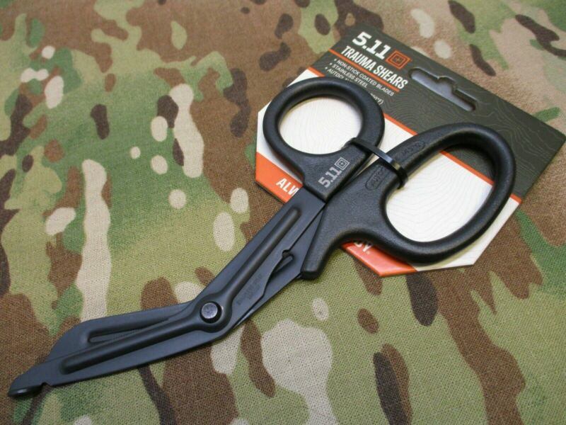 5.11 TACTICAL TRAUMA SHEARS EMT SCISSORS BLACK NON-STICK STAINLESS STEEL CUTTERS