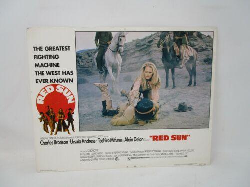 Original Movie Lobby Card Red Sun Charles Bronson Ursula Andress